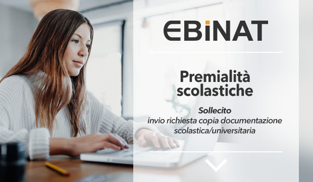 ​Premialita' scolastiche – sollecito invio richiesta copia documentazione scolastica/universitaria
